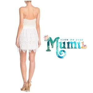 NWT Show Me Your Mumu Cali Lace Skirt in Ivory